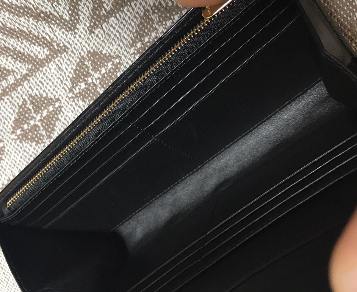 クリスチャンディオール 黒 ブラック 未使用品 チェーンウォレット パテント Christian Dior ゴールド 長財布 ショルダーバッグ_画像5