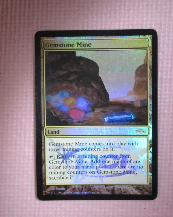 mtg 宝石鉱山/Gemstone Mine 英語版 foil 1枚まで 即決 ※ジャッジ褒章プロモ_画像1