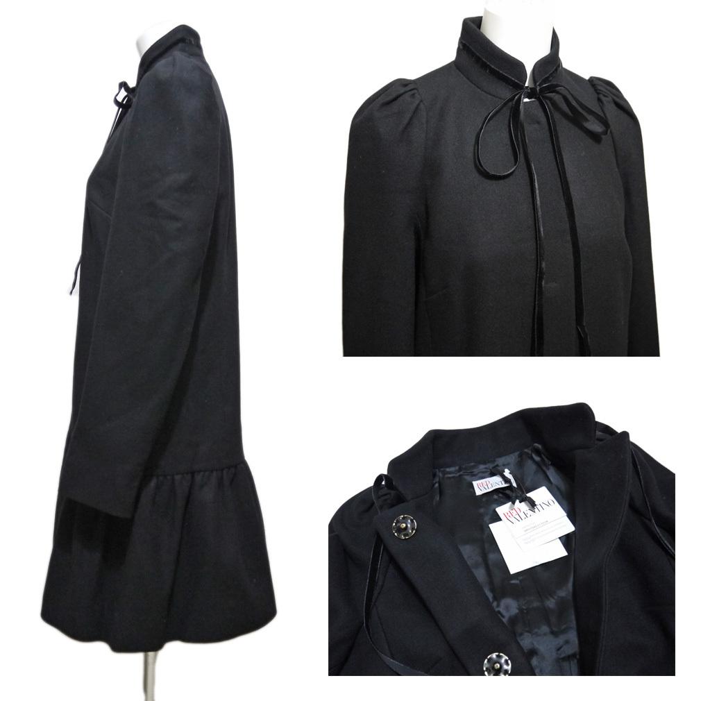 新品レッドヴァレンティノRED VALENTINOお嬢さんコート40黒★_画像3