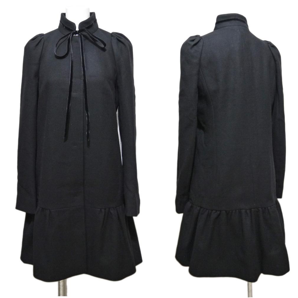 新品レッドヴァレンティノRED VALENTINOお嬢さんコート40黒★_画像2