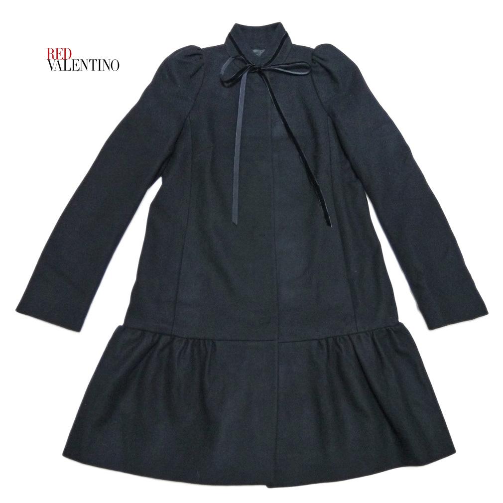 新品レッドヴァレンティノRED VALENTINOお嬢さんコート40黒★_画像1