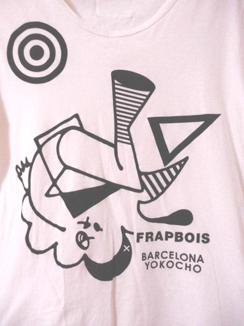 値下 即決有 フラボア × バルセロナ横町 FRAPBOIS × BARCELONA YOKOCHO Tシャツ 日本製 〒180_画像2