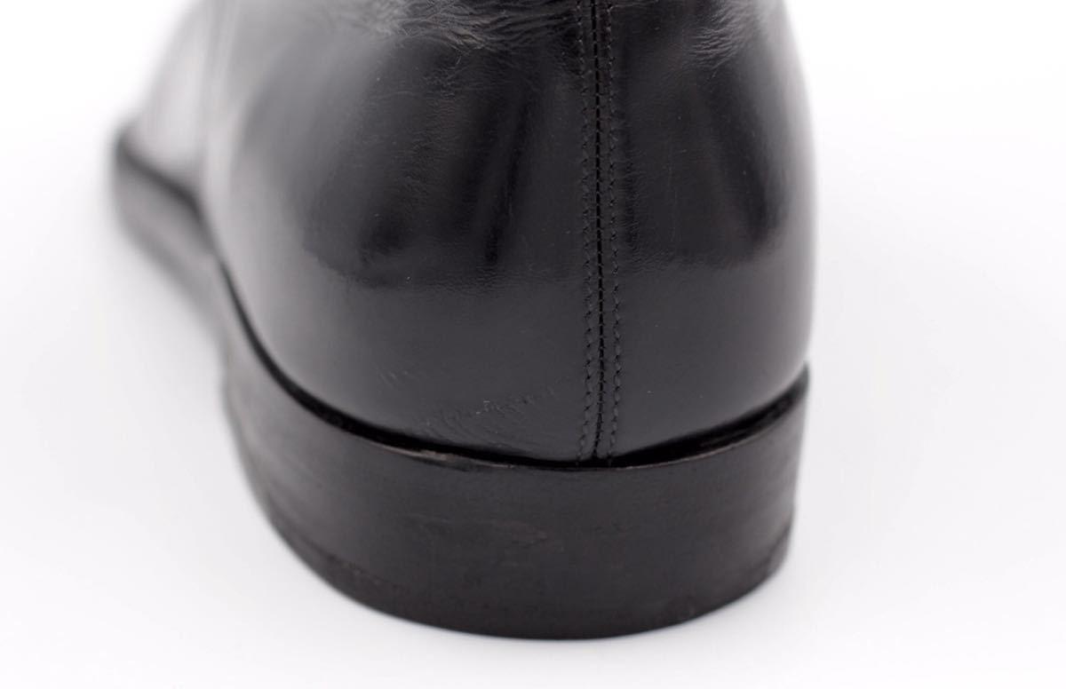 tanino crisci boot タニノクリスチー ブーツ シングルモンクストラップ チャッカブーツ 紳士靴 イタリア製 7ハーフ 26cm カーフ 黒_画像9