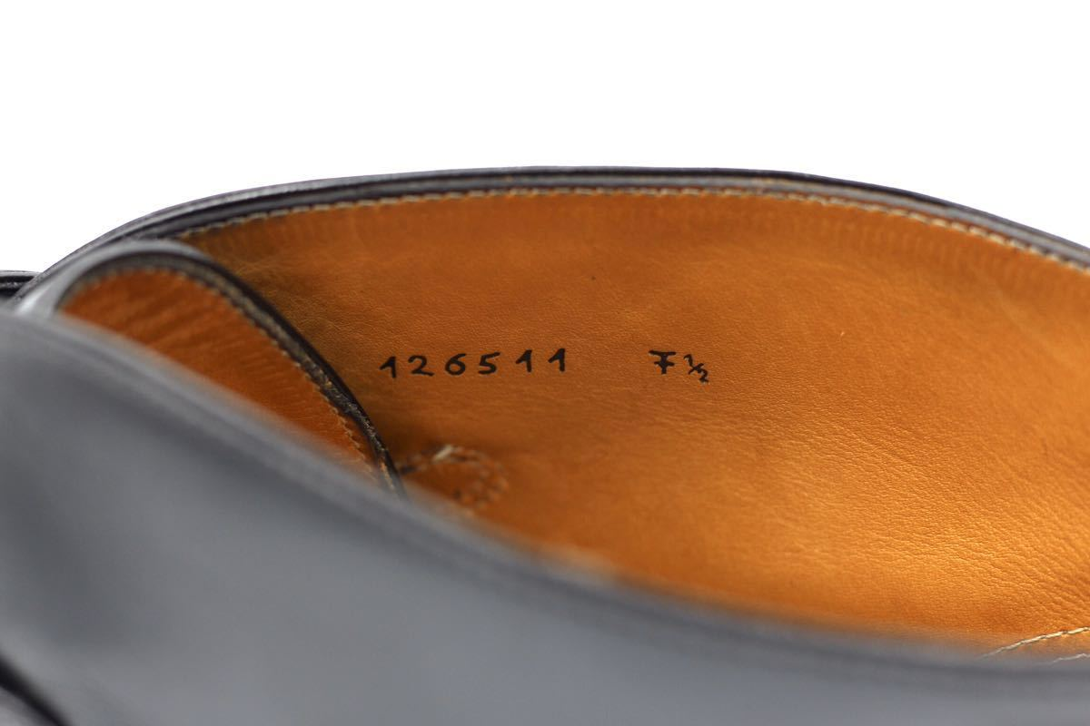 tanino crisci boot タニノクリスチー ブーツ シングルモンクストラップ チャッカブーツ 紳士靴 イタリア製 7ハーフ 26cm カーフ 黒_画像8