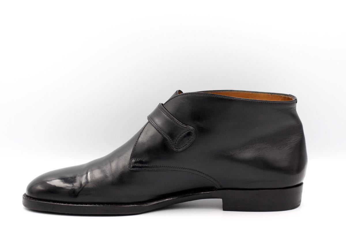 tanino crisci boot タニノクリスチー ブーツ シングルモンクストラップ チャッカブーツ 紳士靴 イタリア製 7ハーフ 26cm カーフ 黒_画像4