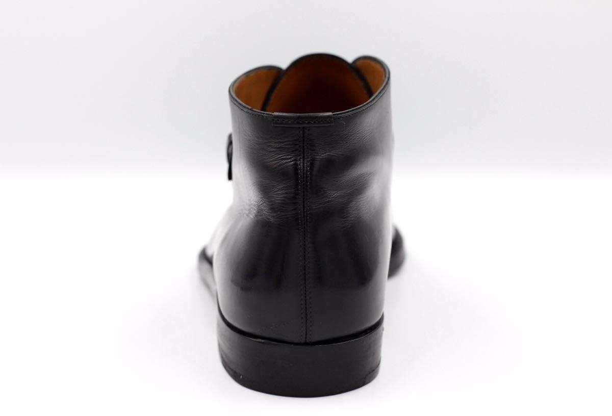 tanino crisci boot タニノクリスチー ブーツ シングルモンクストラップ チャッカブーツ 紳士靴 イタリア製 7ハーフ 26cm カーフ 黒_画像5