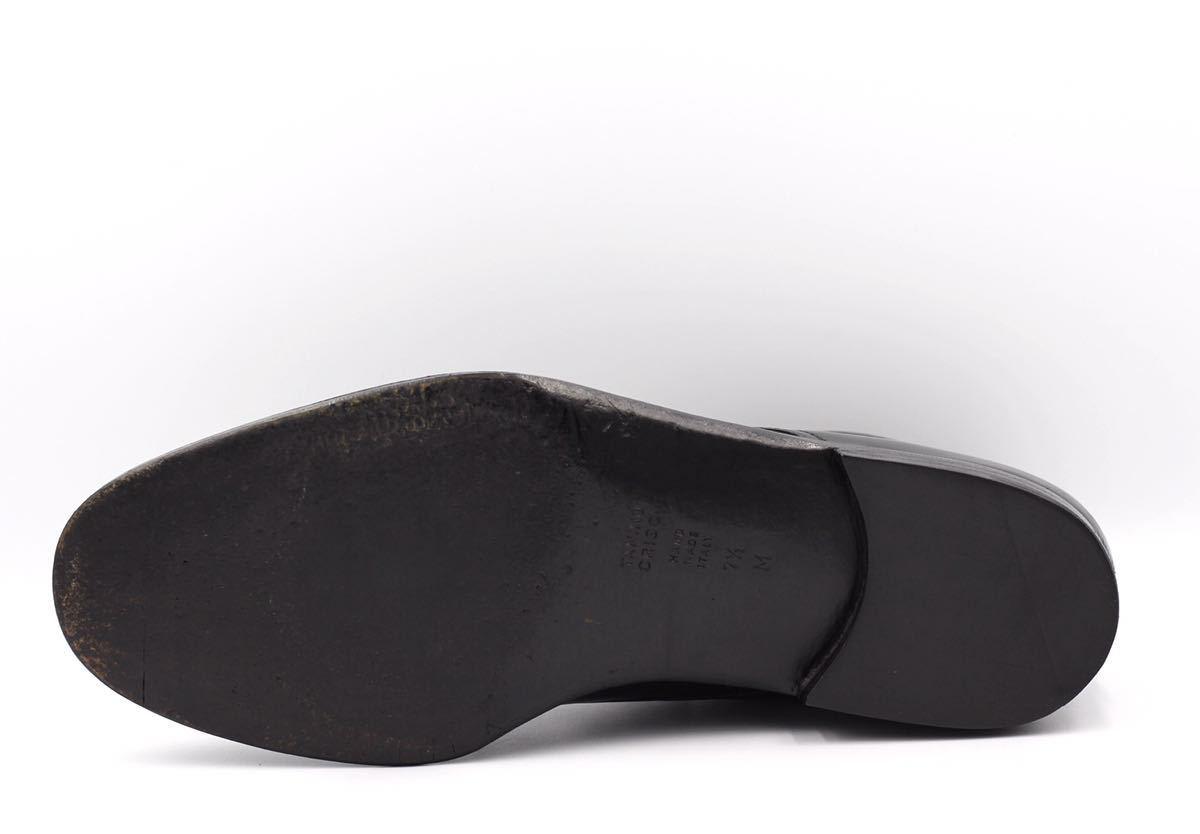 tanino crisci boot タニノクリスチー ブーツ シングルモンクストラップ チャッカブーツ 紳士靴 イタリア製 7ハーフ 26cm カーフ 黒_画像6