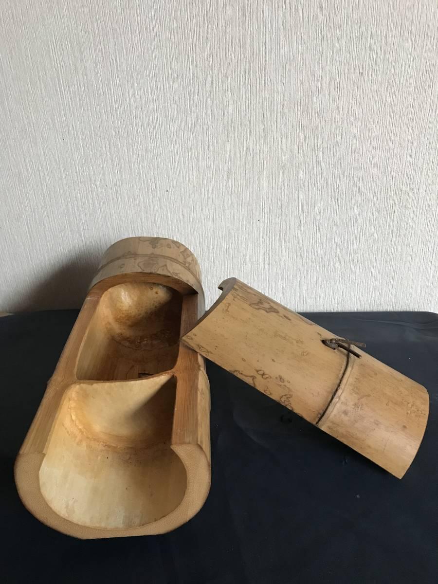 斑竹 竹細工 竹工芸 竹茶合 煎茶道具 小物入れ 和風 茶罐 手作 斑竹 茶道具 _画像3