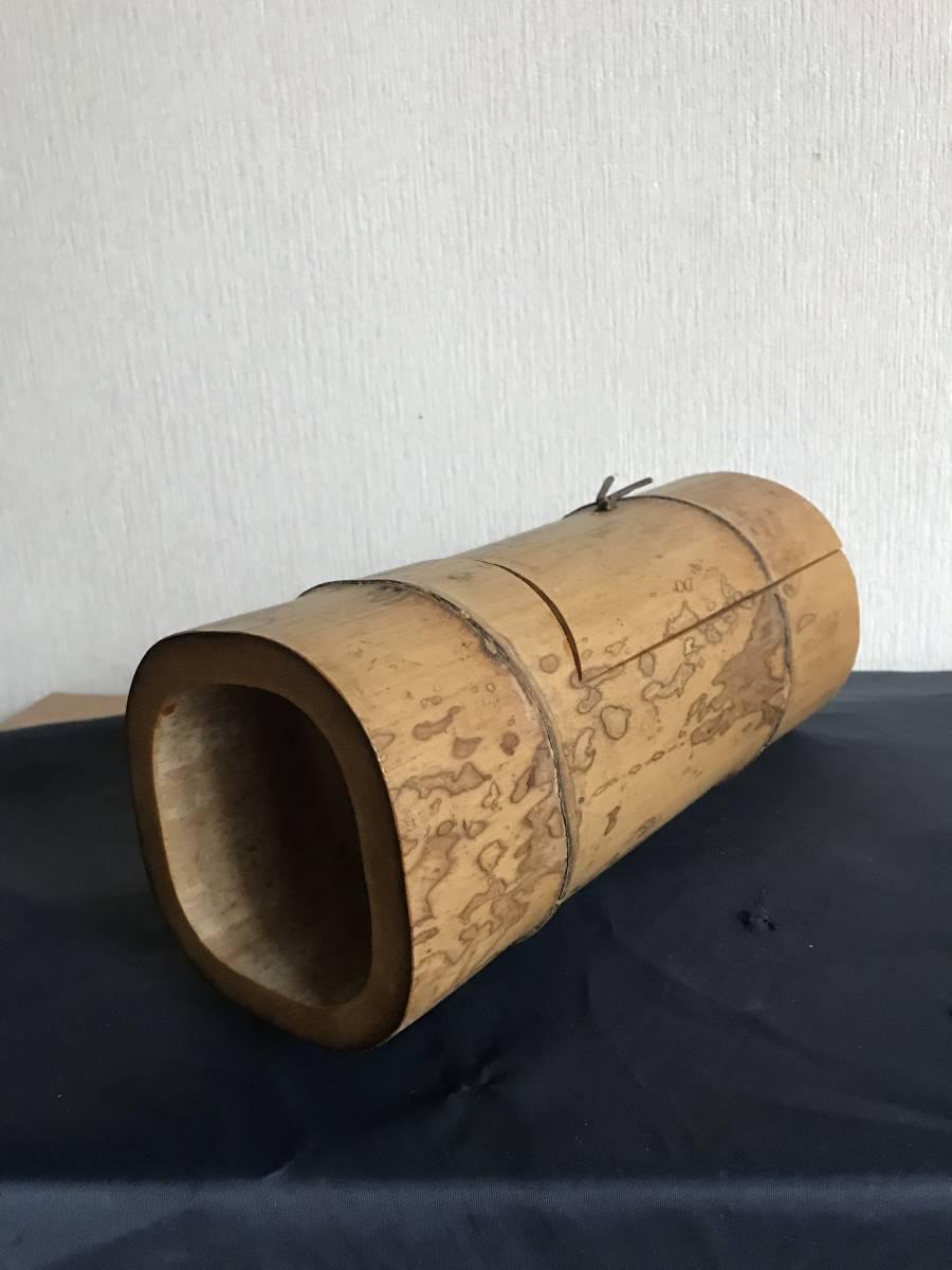 斑竹 竹細工 竹工芸 竹茶合 煎茶道具 小物入れ 和風 茶罐 手作 斑竹 茶道具 _画像4