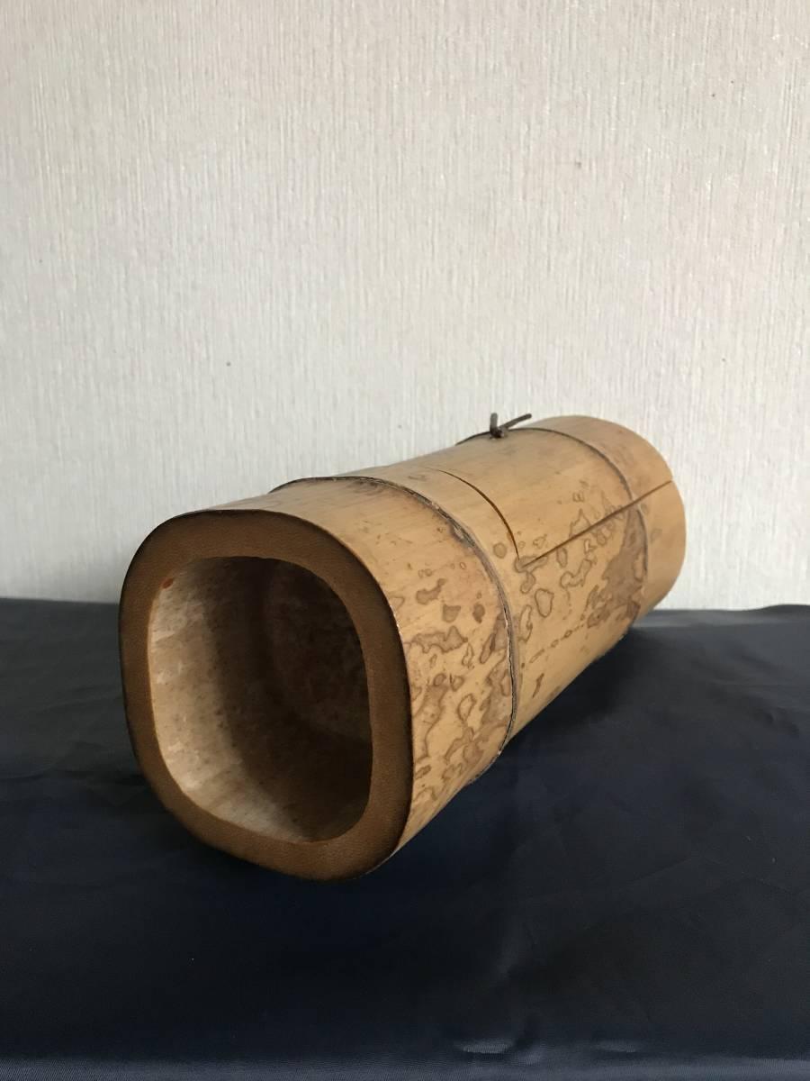 斑竹 竹細工 竹工芸 竹茶合 煎茶道具 小物入れ 和風 茶罐 手作 斑竹 茶道具 _画像7