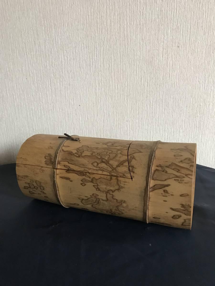斑竹 竹細工 竹工芸 竹茶合 煎茶道具 小物入れ 和風 茶罐 手作 斑竹 茶道具 _画像5