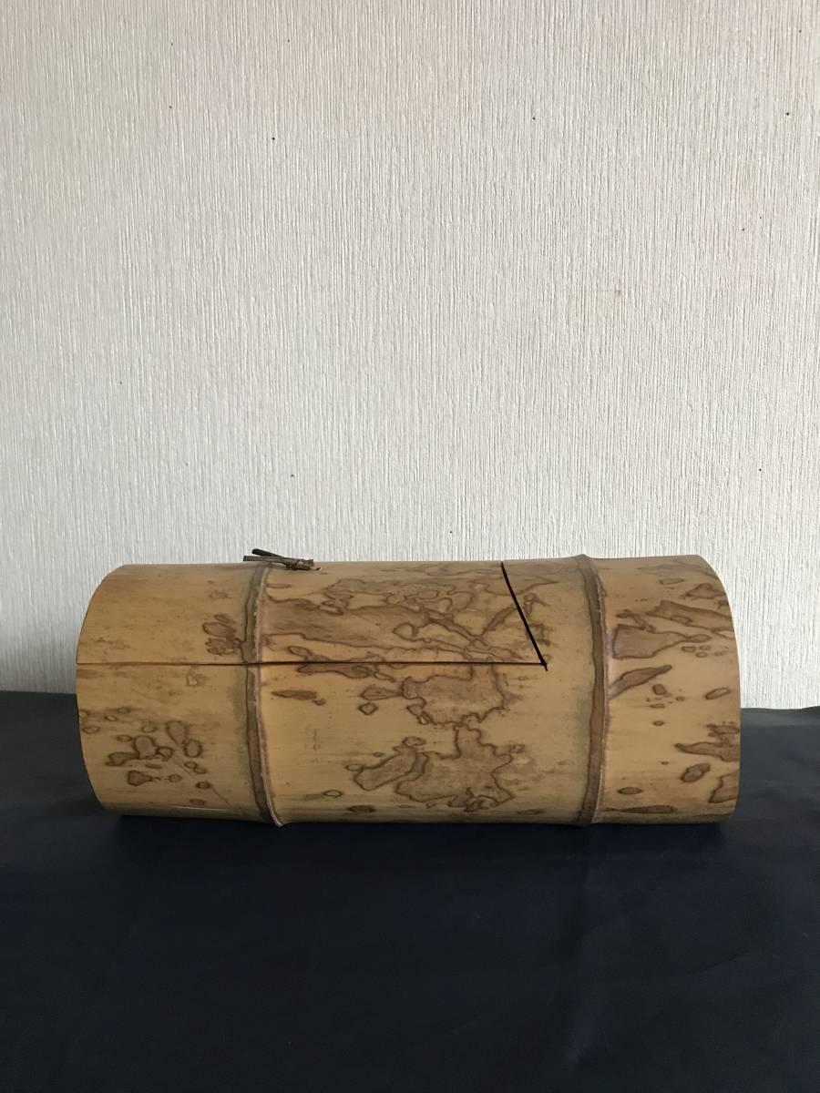 斑竹 竹細工 竹工芸 竹茶合 煎茶道具 小物入れ 和風 茶罐 手作 斑竹 茶道具 _画像6