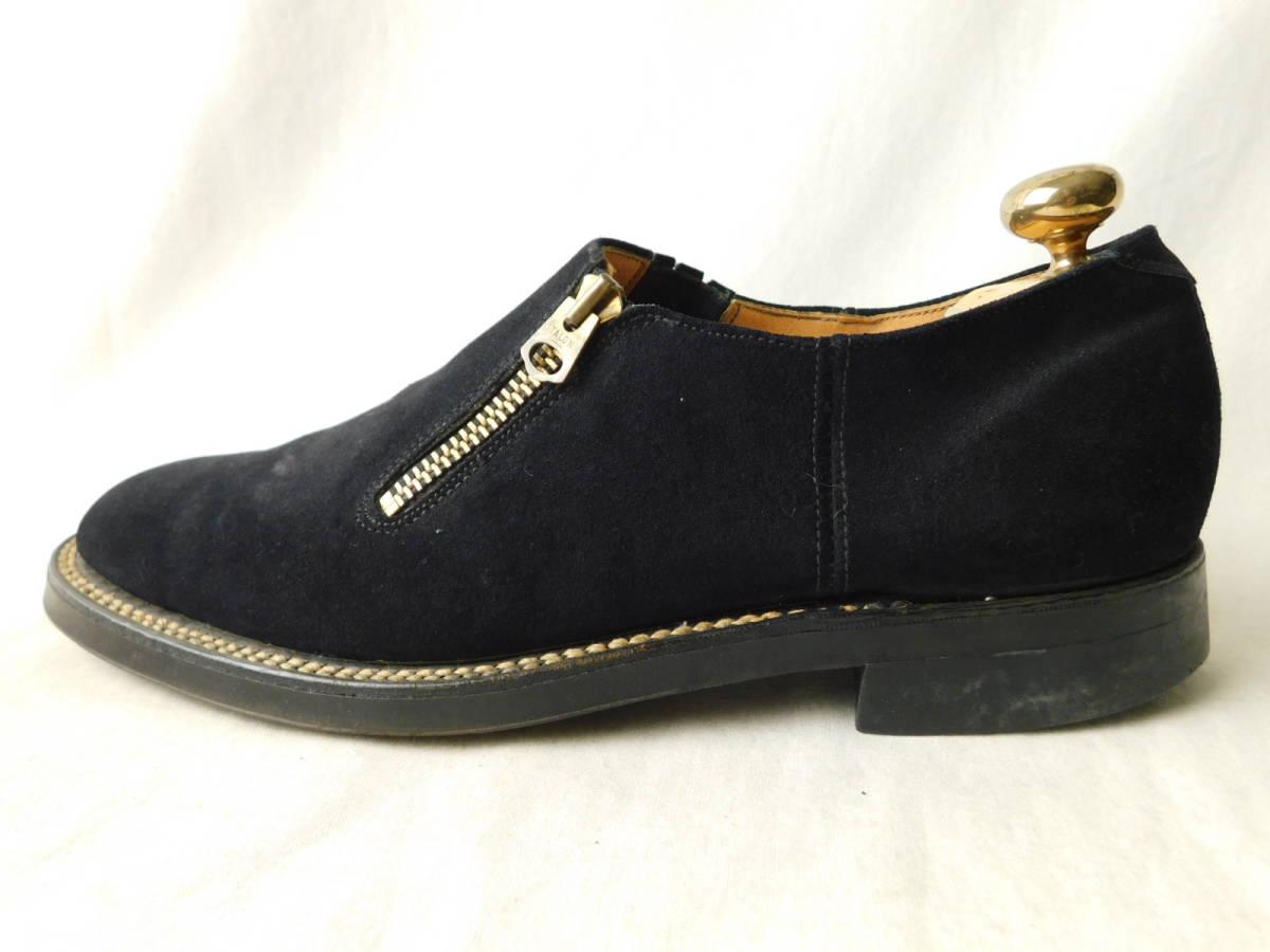 40s50s ビンテージ ダブルコバ ブルースウェード レザーシューズ 革靴 ZIP スリッポン_画像2