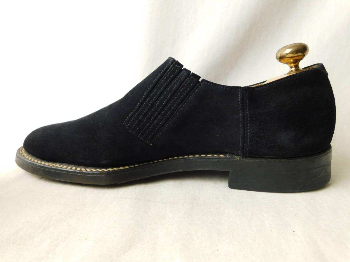 40s50s ビンテージ ダブルコバ ブルースウェード レザーシューズ 革靴 ZIP スリッポン_画像3