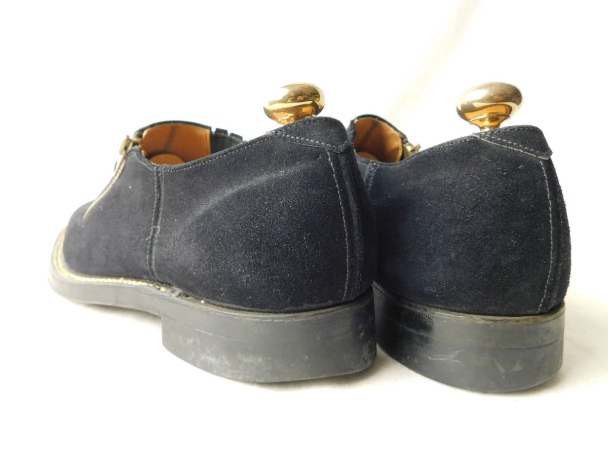 40s50s ビンテージ ダブルコバ ブルースウェード レザーシューズ 革靴 ZIP スリッポン_画像4