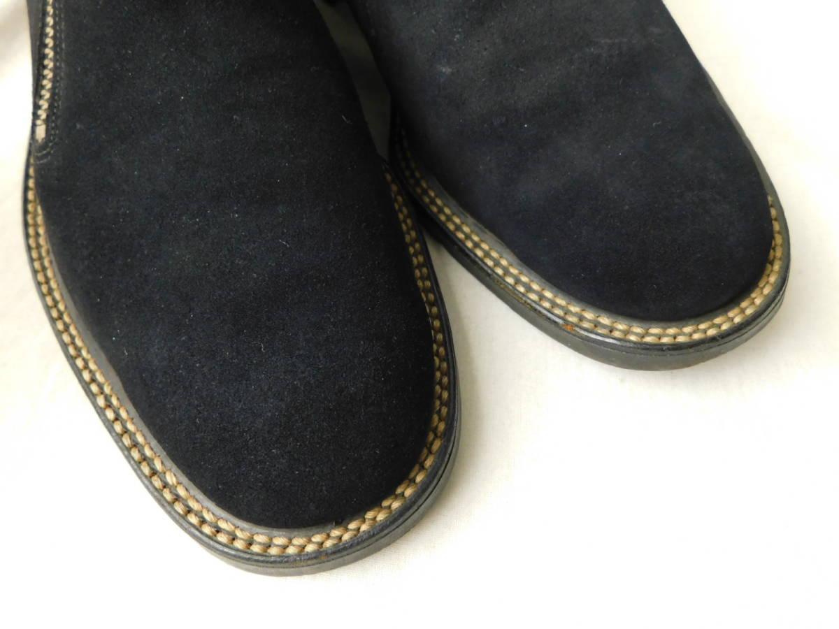 40s50s ビンテージ ダブルコバ ブルースウェード レザーシューズ 革靴 ZIP スリッポン_画像6