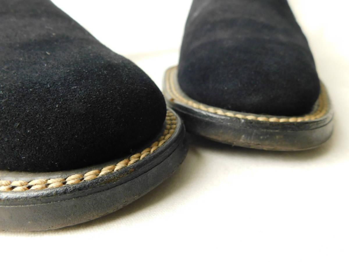 40s50s ビンテージ ダブルコバ ブルースウェード レザーシューズ 革靴 ZIP スリッポン_画像7