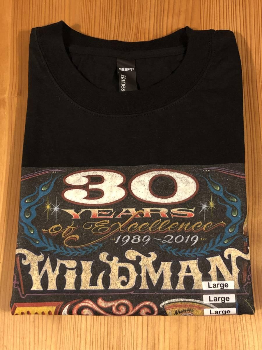 """Sサイズ MOONEYES Hiro """"Wildman"""" Ishii 30th Anniversary Tシャツ ムーンアイズ ブラック 記念 黒 車 バイク がお好きな方にぜひ_画像4"""