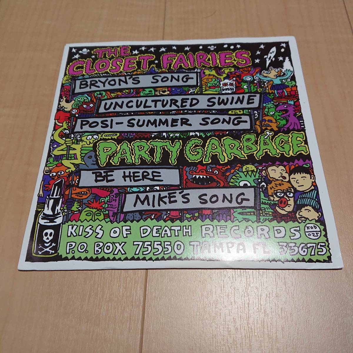 【The Closet Fairies / Party Garbage】chinese telephones marked men tulsa pop punk