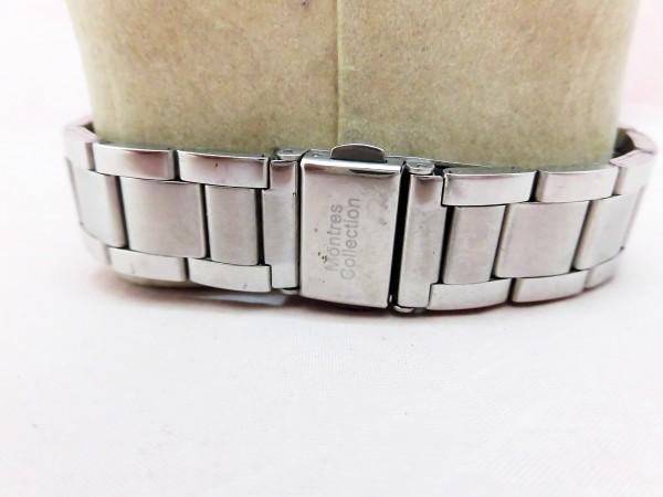 1742 Montres Collection 腕時計 モントレスコレクション MC-2500 銀色 文字盤白色 メンズ クオーツ【 動作可・除菌クリーニング済】_画像4