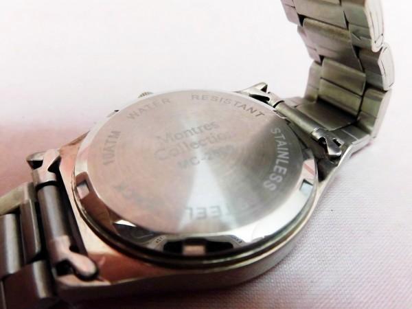 1742 Montres Collection 腕時計 モントレスコレクション MC-2500 銀色 文字盤白色 メンズ クオーツ【 動作可・除菌クリーニング済】_画像5