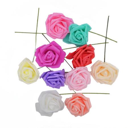 アートフラワー 人工PEローズ 25ヘッド 8センチ 新しい カラフル 花 花嫁 ブーケ ホーム 結婚式 装飾 DIY ギフト mt999_画像4