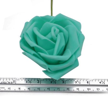 アートフラワー 人工PEローズ 25ヘッド 8センチ 新しい カラフル 花 花嫁 ブーケ ホーム 結婚式 装飾 DIY ギフト mt999_画像5