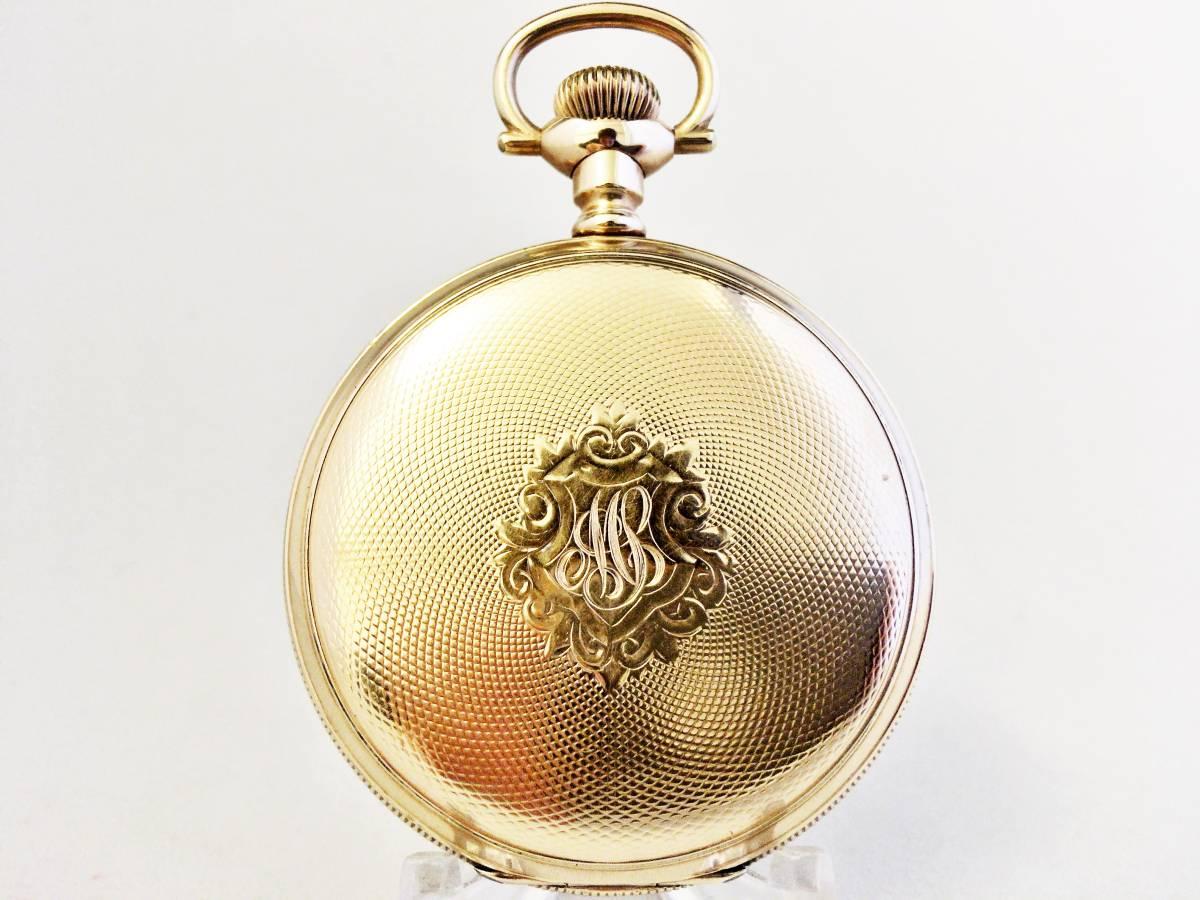 1903年製◆WALTHAM 美彫金大型フルハンター 大型16S 15石 Gr.620 ウォルサム懐中時計◆美品