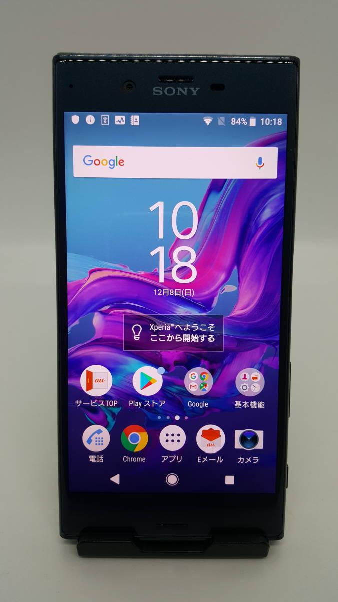 ※比較的キレイ※ au / Sony Mobile Xperia XZ SOV34 フォレストブルー 5.2インチ Android8.0.0 フルセグ ※本体のみ ※念の為ジャンク扱い