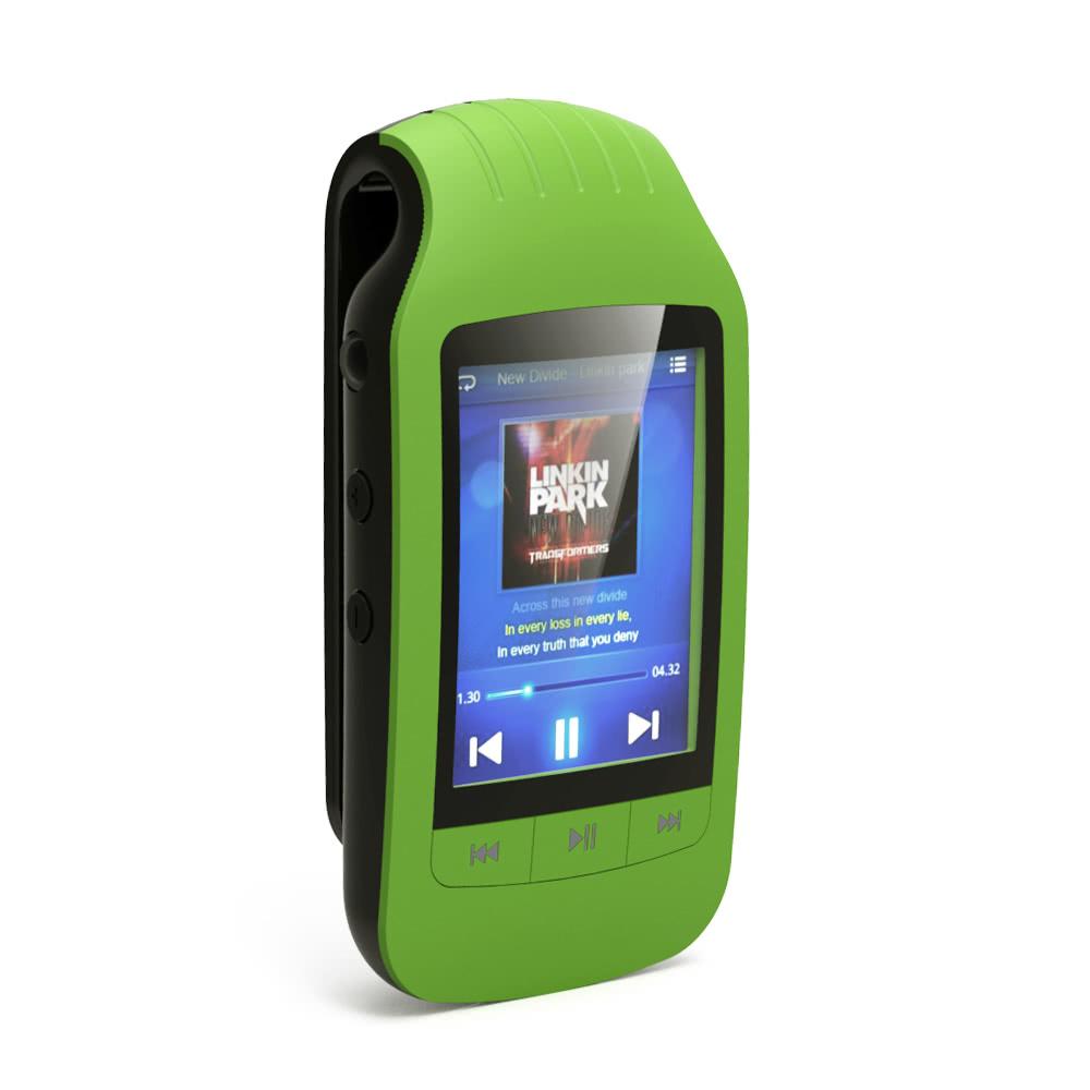 HOTT A505 クリップオン Bluetooth 8GB デジタル MP3 / MP4 プレーヤー グリーン 歩数計 カロリー消費 移動距離表示_画像2