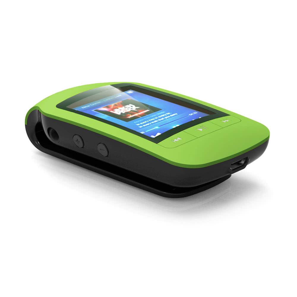 HOTT A505 クリップオン Bluetooth 8GB デジタル MP3 / MP4 プレーヤー グリーン 歩数計 カロリー消費 移動距離表示_画像4