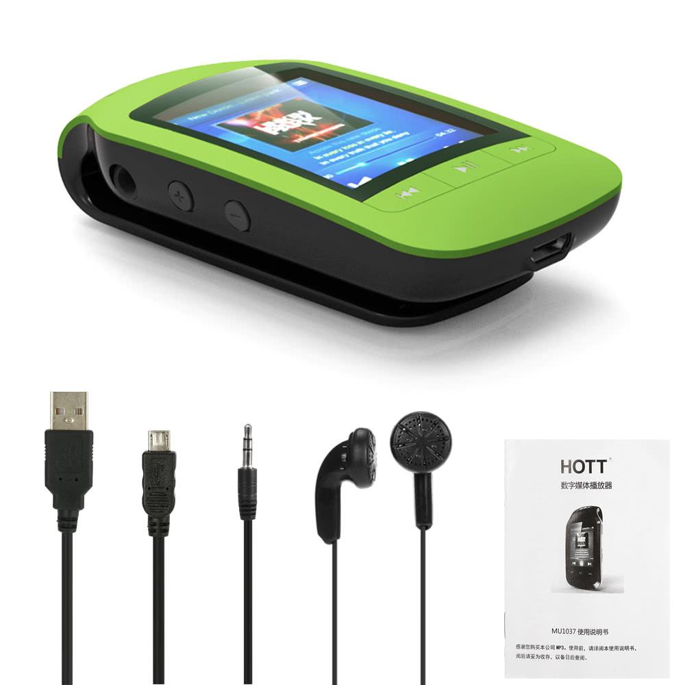 HOTT A505 クリップオン Bluetooth 8GB デジタル MP3 / MP4 プレーヤー グリーン 歩数計 カロリー消費 移動距離表示_画像10