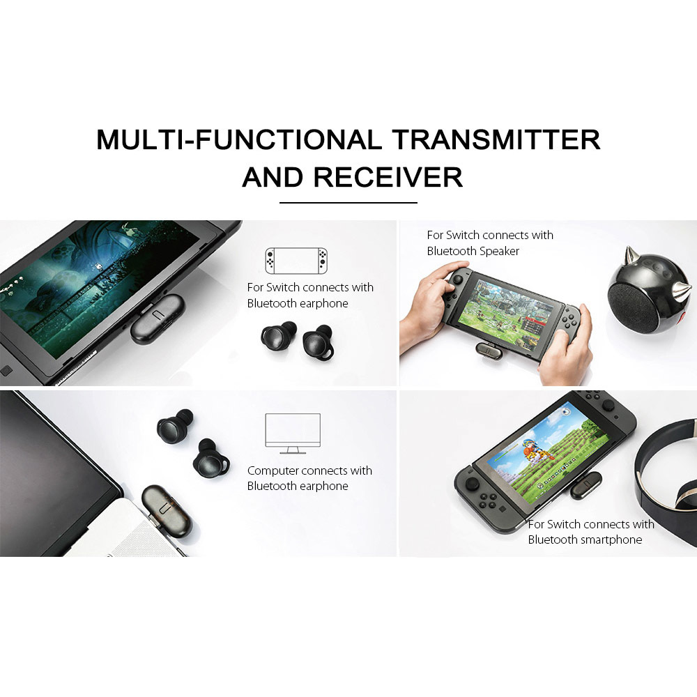 Gulikit ROUTE+ USB Type-C Bluetooth オーディオトランスミッター Nintendo Switch 対応_画像3