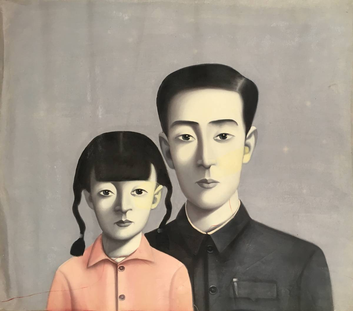 現代絵画?。痆不思議な肖像画?20F?canvasシート]/中国字画?中国現代美術?コンテンポラリー