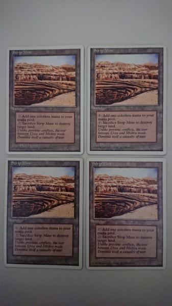 MTG 露天鉱床/Strip Mine 4ED 英語4枚セット