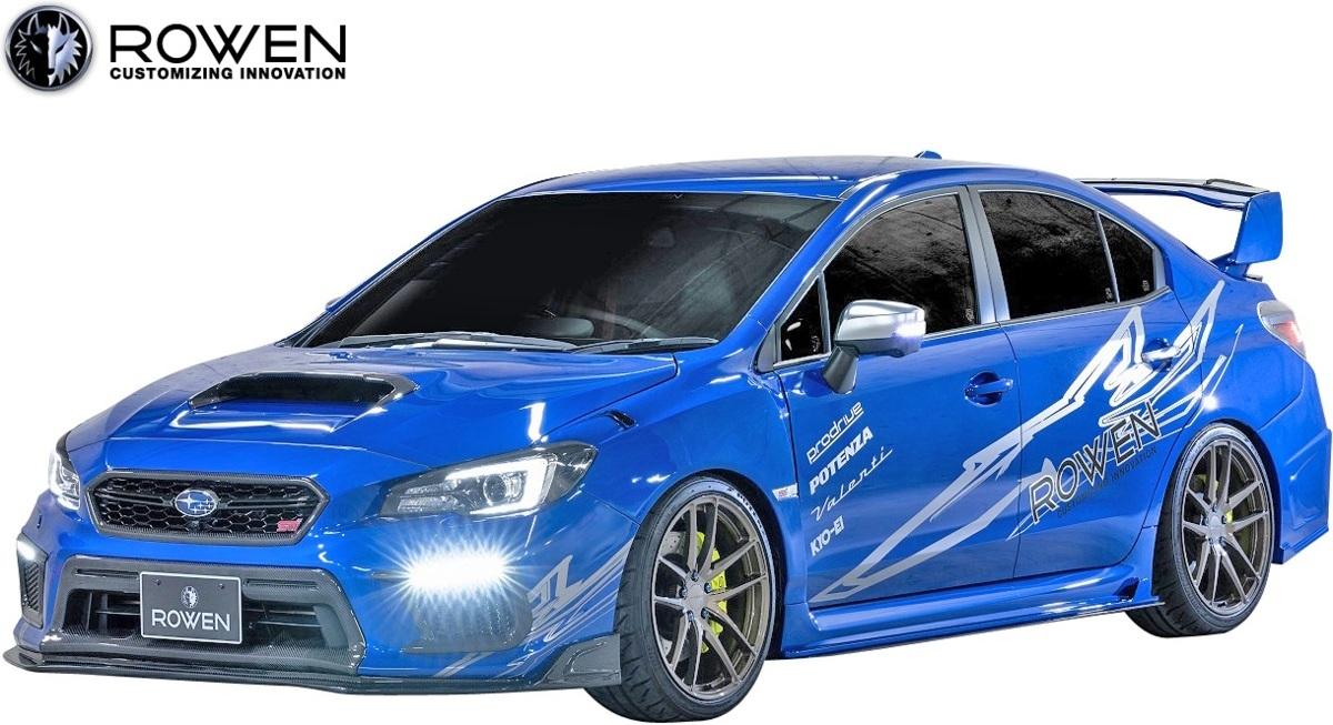 【M's】SUBARU WRX STI/S4 後期 (2017.6-) ROWEN リヤガーニーフラップ//FRP VAB VAG エアロ ロェン ロウェン ローウェン 1S006R00_※画像はWet Carbon+FRP製のサンプル。