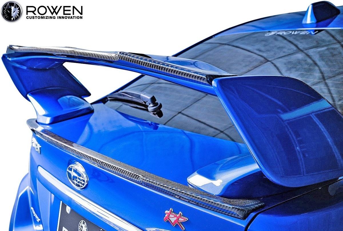 【M's】スバル WRX STI/S4 後期 (2017.6-) ROWEN トランクスポイラー//Wet Carbon VAB VAG エアロ ロェン ロウェン ローウェン 1S006T10_※ 画像はカーボン製のサンプル。