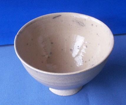 茶道具 呉器茶碗 切高台 韓国製 時代物 合わせ桐箱付_画像2