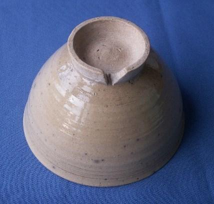 茶道具 呉器茶碗 切高台 韓国製 時代物 合わせ桐箱付_画像5