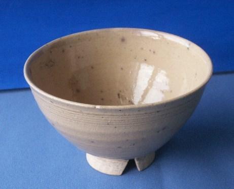 茶道具 呉器茶碗 切高台 韓国製 時代物 合わせ桐箱付_画像1