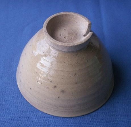 茶道具 呉器茶碗 切高台 韓国製 時代物 合わせ桐箱付_画像8