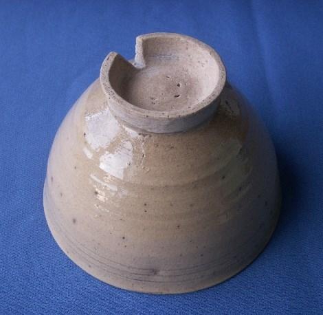 茶道具 呉器茶碗 切高台 韓国製 時代物 合わせ桐箱付_画像6
