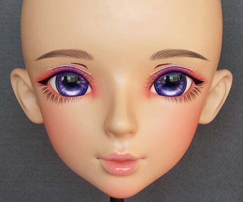 ★大好評 特別な化粧 金髪 美人 着ぐるみハーフマスク コスプレ kigurumi MASK FPR製 ヘッド変身・変装二次元 美少女 等身ハーフマスク★ _画像3
