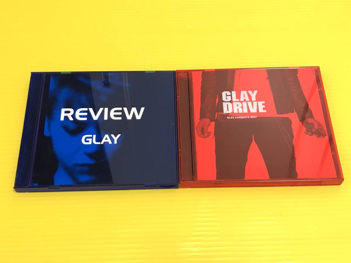 ★GLAY ベストCD2枚セット!★REVIEW - BEST OF GLAY レヴュー~ベスト・オブ・グレイ★DRIVE~GLAY complete BEST**2枚組 ドライブ