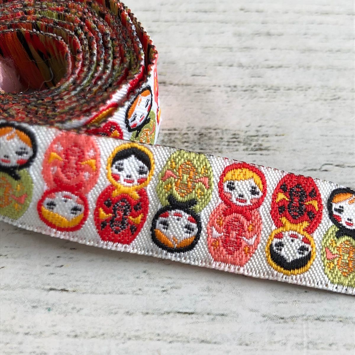 マトリョーシカ 刺繍リボン100cm