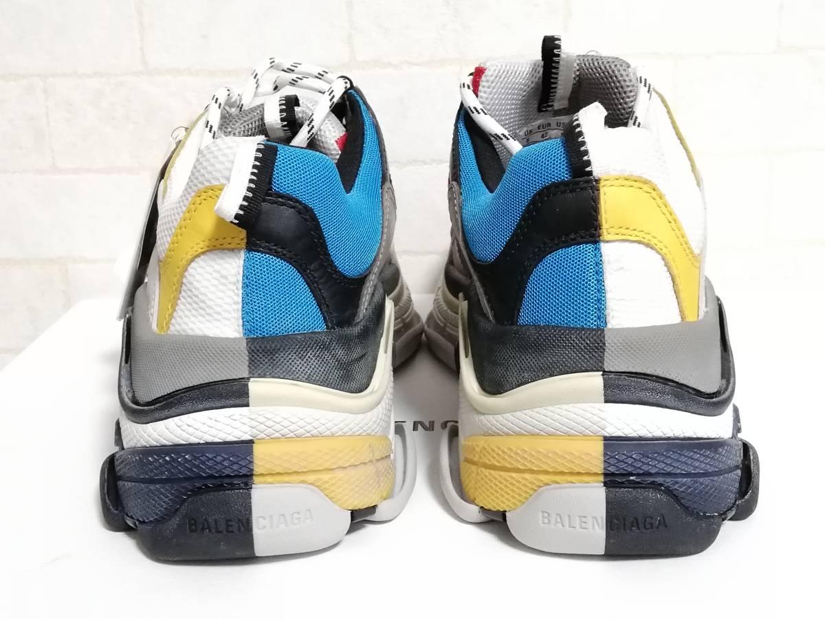 新品 BALENCIAGA バレンシアガ トリプルS スニーカー 27.5 42 バイカラー Triple S メンズ 靴 シューズ トリエス ダッド トリプルエス Half_画像5