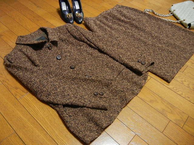 ◆Leilian レリアン◆ウール混 スカートスーツ◆スカート&ジャケット セットアップ◆サイ