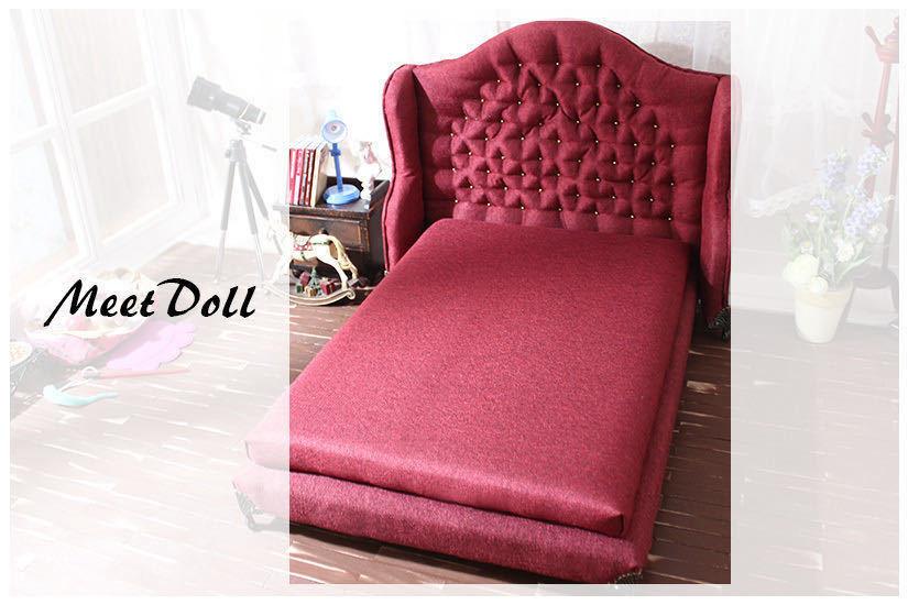 新品 BJD用家具 ベッド SD/MSD/YSDサイズ 全9色 家具 ドール用 doll 球体関節人形用 復古 撮影 MD_画像4