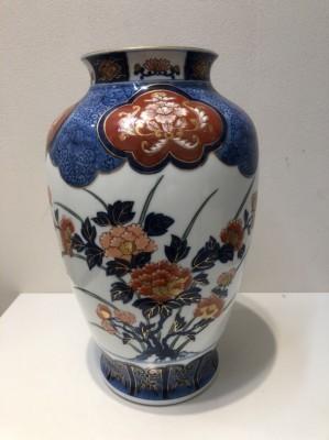 11278☆有田焼 肥前焼 哲山作 花瓶 花器 花入 骨董品 古美術品 _画像3