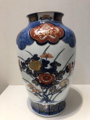 11278☆有田焼 肥前焼 哲山作 花瓶 花器 花入 骨董品 古美術品 _画像2